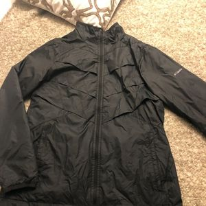 Columbia Black Lightweight Omni-Heat Jacket in XL